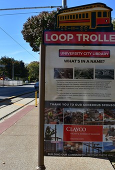 Signage! The Loop Trolley has signage.