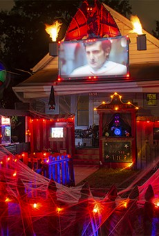 This house, on Overland's Windom Drive, is a fright fest, complete with The Exorcist screening.