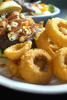 """The """"Bacon Black & Blue Steakburger"""" is one of Oday Alyatim's favorite dishes."""