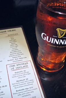 A pint of Magners served up at The Dubliner.