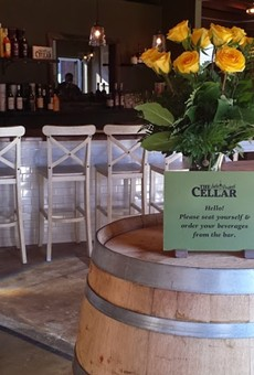 The entrance to the Side Project Cellar