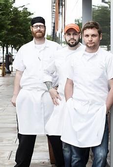 Adam Altnether, left, with Nate Hereford and Gerard Craft. | Jennifer Silverberg