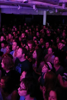 Does this look like a tame audience to you? See more photos from last night's Yeasayer show at the Gargoyle.
