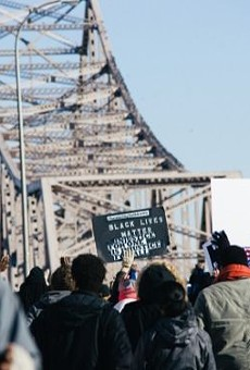 Ferguson protesters in St. Louis this weekend.