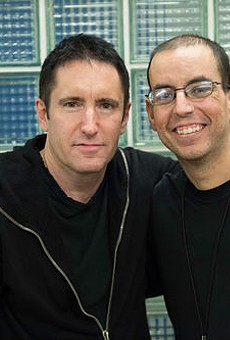 Andrew Youssef with Trent Reznor.