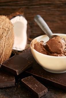 Chocolate coconut fudge .... yum.