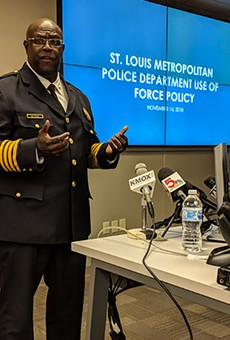 St. Louis police chief John Hayden at Friday's press conference.