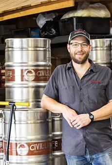 Brandon Stern of The Civil Life Brewing Company.   Mabel Suen