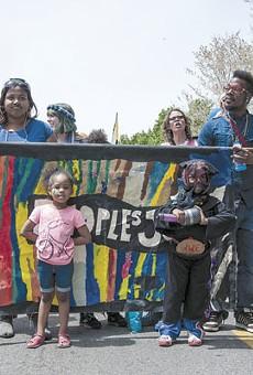 Marchers on Cherokee Street.