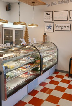 The storefront has items from all ten bakeries.