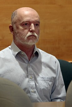 Thomas Bruce appears December 5, 2018 in St. Louis County Court.