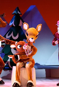 It's a live-action Rudolph the Red-Nosed Reindeer, and that's Christmas magic in motion.