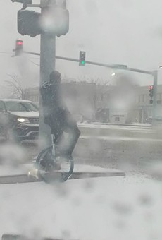 St. Louis Hero Unicycles Through Blizzard