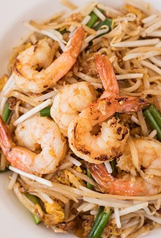 Thai Table's pad Thai isn't red, but that's a good thing.
