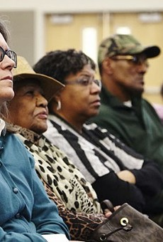 The audience at a Ferguson Commission meeting.