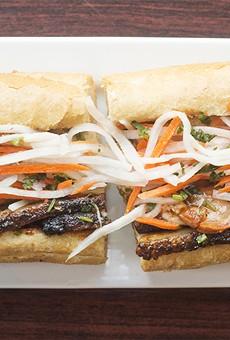 "The ""Porkapocalypse"" banh mi sandwich."