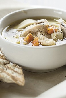 Grove East Provisions' chicken noodle soup — an excellent choice on a chilly day.
