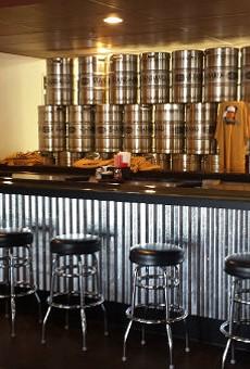 The bar at Standard Brewing.