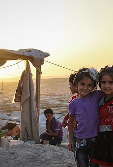 Syrian refugees at the Domiz Refugee Camp in northern Iraq.