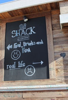 The Shack's quirky sense of humor is reflected throughout the restaurant.