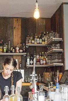 The bar at Retreat Gastropub.