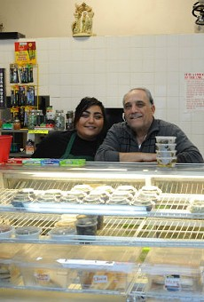 """Sleiman """"Sam"""" Bathani, right, with his daughter Joeanne."""