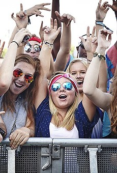 Excited fans at last year's LouFest.