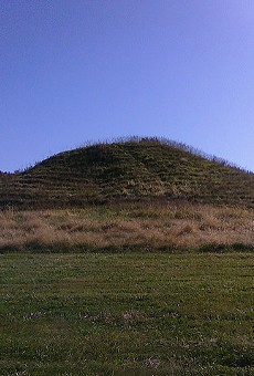 A mound in Cahokia, Illinois.