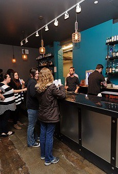 The bar at the Ready Room, a venue in the Grove at the center of a controversy between the mayor's office and the city's excise commissioner, who was fired March 4.