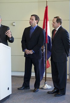 Concordance CEO and President Danny Ludeman with St. Louis County Executive Steve Stenger, St. Louis Mayor Francis Slay and St. Charles County Executive Steve Elhmann.