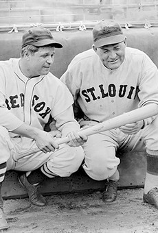 Rogers Hornsby (left), shown with Jimmie Foxx.