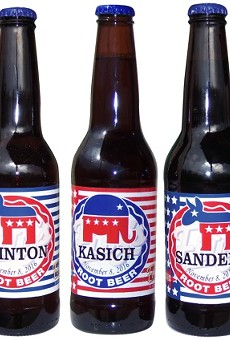 Fitz's is offering customers the chance to show their support for their respective candidate this election season by purchasing limited edition, specially labeled bottles.
