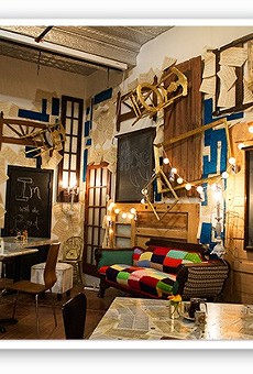 Melt boasted a cluttered, eclectic interior.