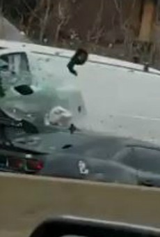 Car Gets Creamed Driving the Wrong Way on I-55, Driver in Custody