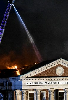 The Karpeles Manuscript Library Museum was badly damaged by fire.