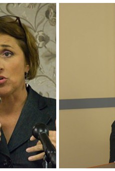 Attorney Jane Dueker, left, lost the appeal aiming to block a special election this Friday. David Roland (right) argued for the other side.