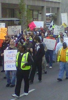 In this 2011 Occupy protest, 1,000 people marched through downtown St. Louis.