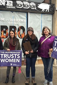 A NARAL campaign earlier this year put signs around Governor Eric Greitens' St. Louis home, reminding him that many neighbors are pro-choice.