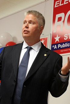 Jeff Roorda, shown here during a campaign stop for his failed 2014 bid for state senate.