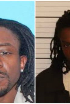 Andrew McKissick was photographed (right) and booked into Shelby County, Tennessee, jail this morning.