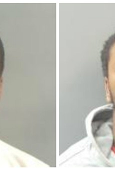 Armani McKinley, left and Antreion Betts are part of a group that terrorized MetroLink riders.