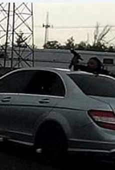 St. Louis police are looking for this guy who shot a woman Tuesday on I-70.