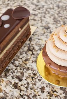 Nathaniel Reid's gorgeous chocolate desserts.