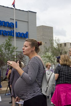 Demonstrators in favor of abortion access rallied at Planned Parenthood last month.