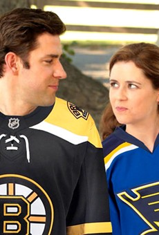Blues-Bruins Series Could Spell the End for The Office's Jim and Pam