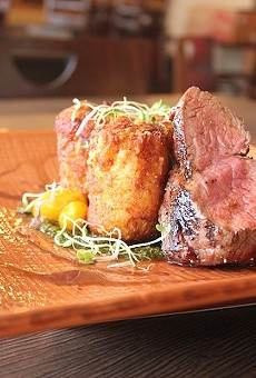 Prime 55's tenderloin, served with cheddar tots.