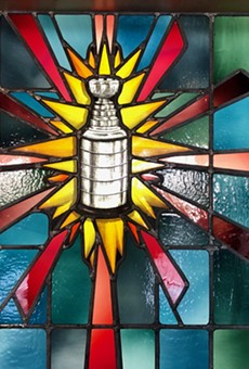 City Museum Invites Blues Fans to View Stained Glass Predicting a Stanley Cup Win