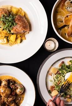 808 Maison serves classics including cervelas sausage en croute, a Marseille seafood stew, escargot and a Lyonnaise salad.