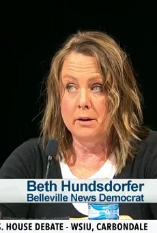 Beth Hundsdorfer, shown moderating a debate in 2018, has a reputation as a top investigative reporter.