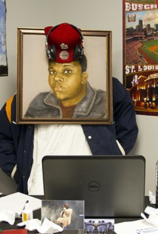 """A recreation of Michael Brown's bedroom, as displayed in """"As I See You: A Tribute to Mike Brown Jr."""""""